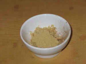Mixture of ground nuts and seasonings