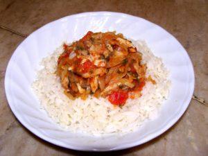 chakhokhbili with rice