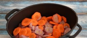 Add carrots and onion in the pan