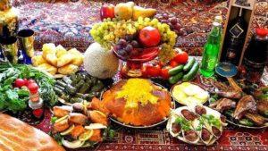 Different Azeri dishes