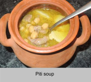 Soup piti in the pot