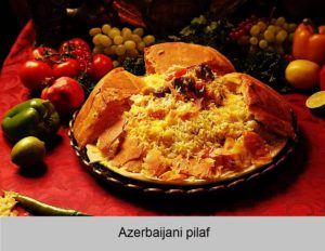 Pilaf cooked in pita bread