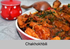 Chakhokhbili. The dish of Georgian cuisine