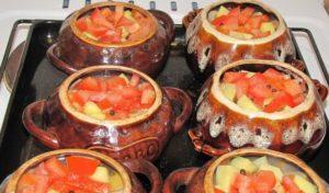 Add potato and tomato